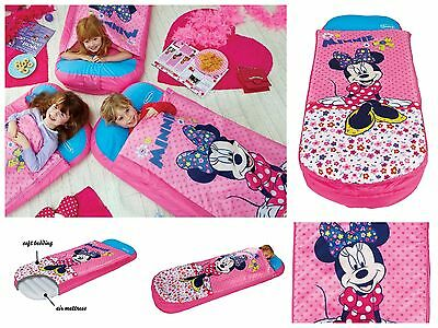 Girls Childrens Kids Minnie Mouse Junior Ready Air Soft Mattress Sleeping bed