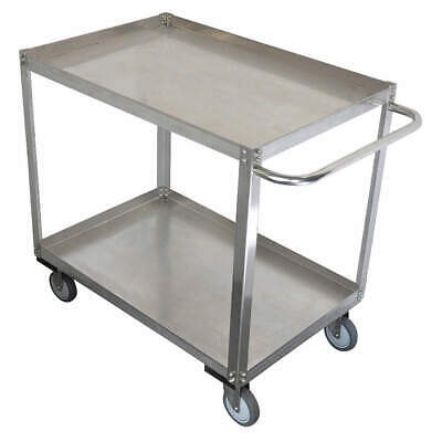 GRAINGE Stainless Steel Unassembled Utility Cart,SS,24 W,1200 lb, 11A460, Silver
