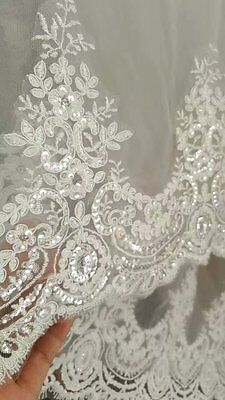 New Popular 3.5 Meter Long Lace Wedding Veil Cathedral Bridal Accessories Veils