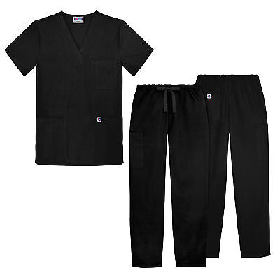 Sivvan Unisex Classic Scrub Set V-neck Top / Drawstring Pants  (14 colors)