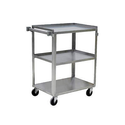 GRAINGER A Stainless Steel Utility Cart,SS,31 Lx19 W,500 lb. Cap., 5JNJ6, Silver