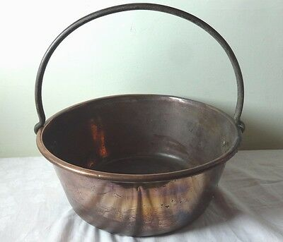 Old Antique Copper Jam Pan with handle,Copper bucket