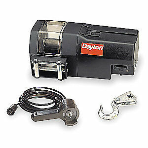 DAYTON Electric Winch,1-4/5HP,12VDC, 3VJ66