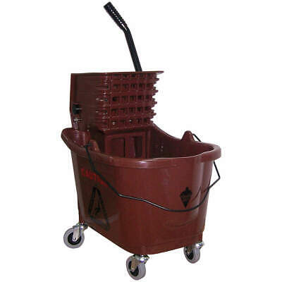 TOUGH GUY Mop Bucket and Wringer,8-3/4 gal.,Brown, 5CJH9, Brown