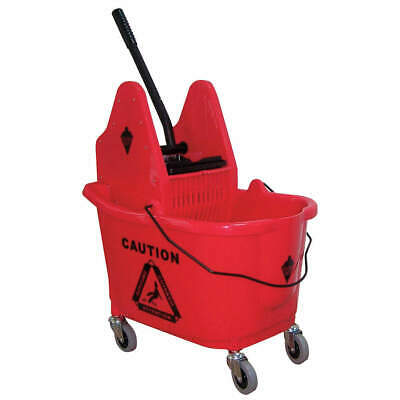TOUGH GUY Mop Bucket and Wringer,8-3/4 gal.,Red, 5CJK2, Red