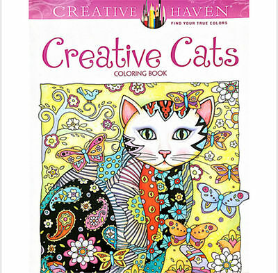 Young Adult Novelty Haven Creative Cats Colouring Book Kids Gifts Panting Books
