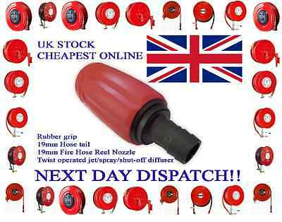 FIRE HOSE Nozzle Reel Tip Spare Universal Jet Spray-19mmSafety/Garden/Wash Down