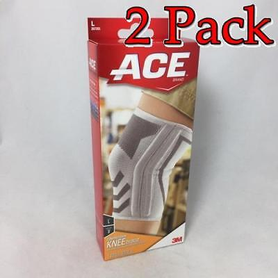 Ace Knitted Knee Brace w/Side Stabilizers, Large, 1ct, 2 Pack 051131198203A812