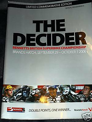 British Superbikes Brands Hatch Programme 2006 Limited