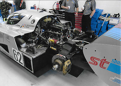 Sauber Mercedes C9 Group C Large A4 Photograph Historic Racing Silverstone
