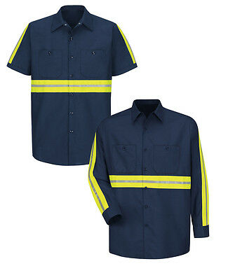 Reed Enhanced Visibility Shirts Hi Vis Reflective Safety Towing Work Uniform