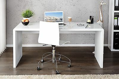Large White Office Home Desk High Gloss Executive Luxury Computer Table Modern