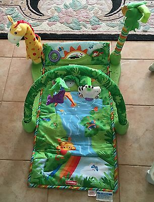 fisher price rainforest 3-in-1 Playgym And Tummy Time Mat In Excellent Condition