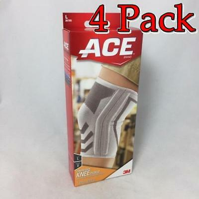 Ace Knitted Knee Brace w/Side Stabilizers, Large, 1ct, 4 Pack 051131198203A812
