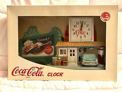 Vintage Burwood 1993 Coke Coca-Cola Garage Gas Station Wall Clock New In Box