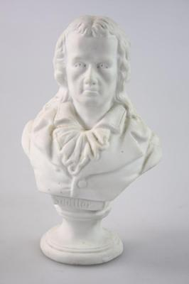 ANTIQUE 19th Century ENGLAND PARIAN WARE BUST NOBLE by S. Driller signed