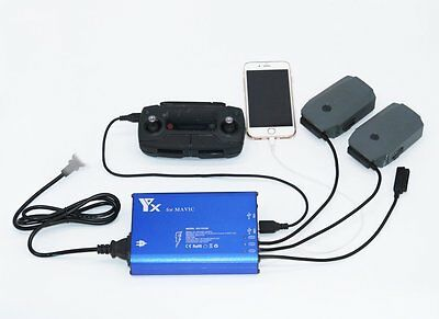 DJI Mavic Pro Charger 5 in 1 Smart Rapid Balance Multi Batteries Charger RC USB