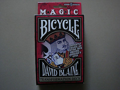 Transformation Magic Bicycle Svengali Deck Playing Cards By David Blaine Tricks