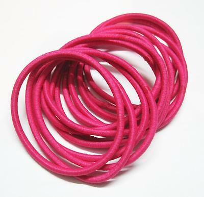 14 x Hot Pink Hair Ties/ Hair Band / Elastic Hair Tie / Ponytailer 2mm Width