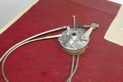 1971-73 Honda SL125 Motosport 100 OEM Front Drum Brake with Cables 1970