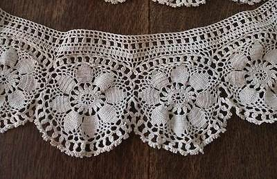 Vintage Fancy Crochet Lace Trim Pillows Crafts Girls Dress Floral Medallion
