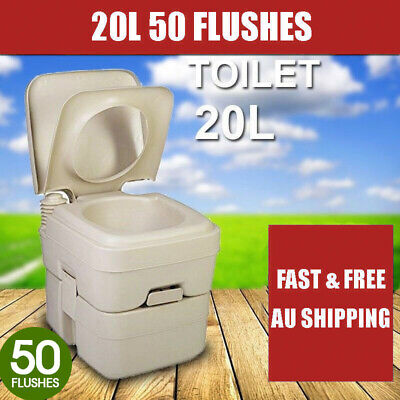 20L Outdoor Portable Camping Toilet w/ Carry Bag Caravan Travel Bucket Boat AU