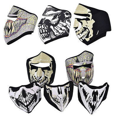 Motorcycle Cycling Ski Outdoor Ghost Skull Balaclava Neck Hood Full Face Mask ft