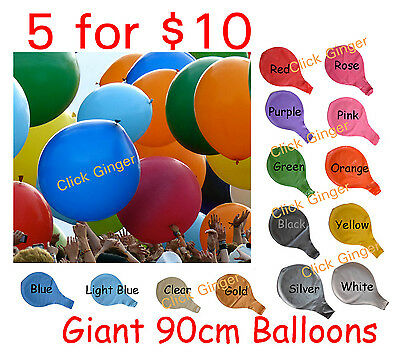 Giant Jumbo Large Latex Helium Balloon 90cm Wedding Party Decoration