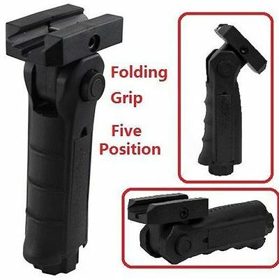 Tactical 5 Position Folding Vertical Front Grip Foregrip Forward Grip Hunting