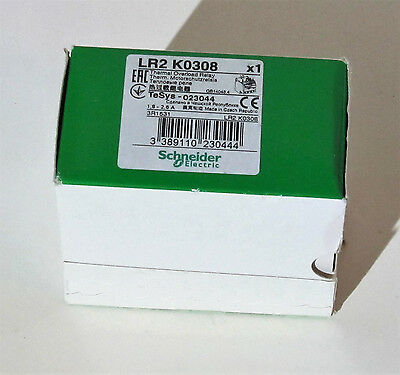 NEW Authentic, Schneider Electric LR2 K0308 Telemecanque Thermal Overload Relay