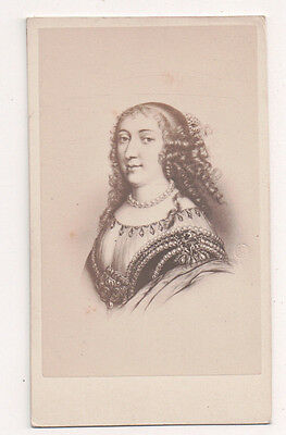Vintage CDV Anne Marie d'Orléans, Duchess of Montpensier  E. Desmaisons Photo
