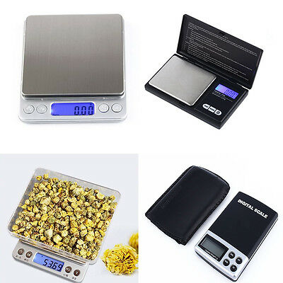 Electronic Digital Mini Scale Balance Weight Jewelry Gold Kitchen 500g x 0.1g ss