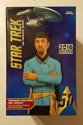 SDCC 2016 Exclusive Star Trek Mirror Spock Statue Paperweight LE 1000