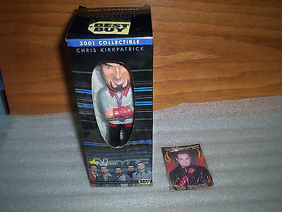 2001 Best Buy N'Sync Chris Kirkpatrick Bobble Head Figure Toy & Display Box