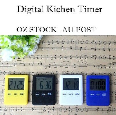 Mini Electronic Kitchen Digital Lcd Magnetic Countdown Timer Cooking Alarm