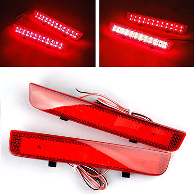 Red Range Rover L322 Freelander 2 LR2 Rear Bumper Reflector LED Brake Stop Light