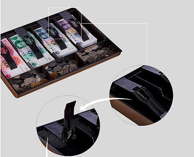 Cash Coin Register Replacement Money Drawer Storage Box With 4 Bill 3 Coin Trays