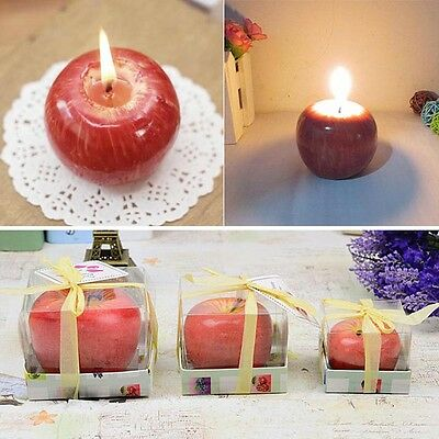 Lovely Red Apple Shape Fruit Scented Wedding Decor Valentine's Day Candle Lamp