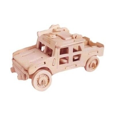 3D Wooden Puzzle Jigsaw Woodcraft ARMY JEEP Wooden Modelling Puzzle Toy Gift