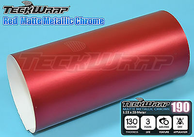 Film Vinyle Chrome Mat Rouge TECKWRAP 20 X 15 cm Ice Matte Car WRAPPING Covering