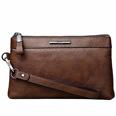 Mens Genuine Soft Leather Clutch Wallet Luxury Business Travel Clutch Bag