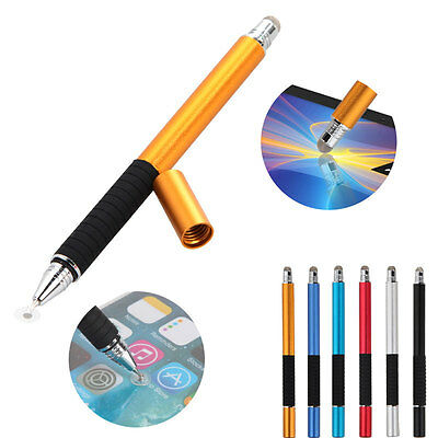 2 In 1 Multifunction Fine Point Round Thin Tip Touch Screen Pen Capacitive Stylu