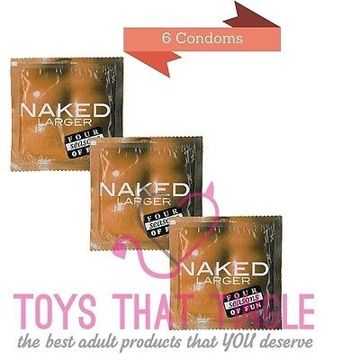 Four Seasons Naked Larger condoms 6 condoms free shipping