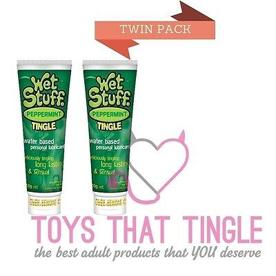 Twin Pack Peppermint Tingle Lube Lubricant Wet Stuff 100g x 2
