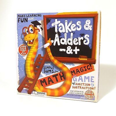 Takes and Adders Snakes and Ladders Number Game for Preschool Learning 4+