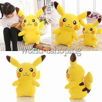 Pokemon Go Cute Pikachu Figure Big Plush Toys Large Soft Stuffed Doll 14''-18''