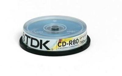 Brand New Tdk T19539 Cd-R 52X 80Min 10 Pack Spindle