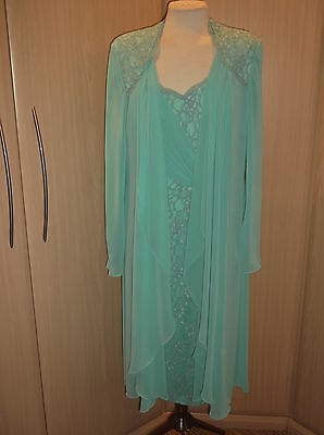Veromia Dressed Up Suit Size 16 Mother Of The Bride Brand New Turquoise