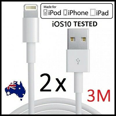 1M 3M USB Lightning Data Charger Cable Cord for iPhone 7 6 6S 5 iPad 4 Mini Air