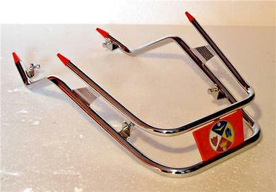 Cuppini Vespa PX Chrome Front Bumper With Red Badge